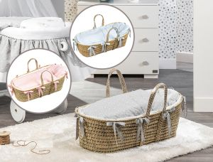 Babykorb / Moses Basket Lollipop (Komplett ausgestattet)