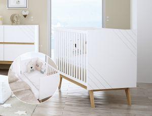 Babybett NUOVA (umbaubar zum Beistellbett)