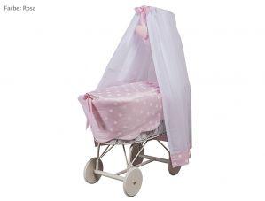 Stubenwagen Amelie, komplett ausgestattet-rosa