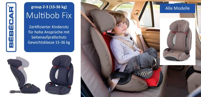 Autokindersitz Multibob Fix Bebecar Group 2-3 (15-36 kg)