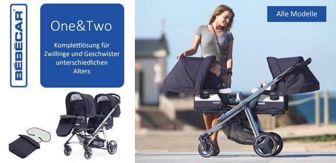 Geschwisterwagen & Kinderwagen für Zwillinge One&Two Bebecar
