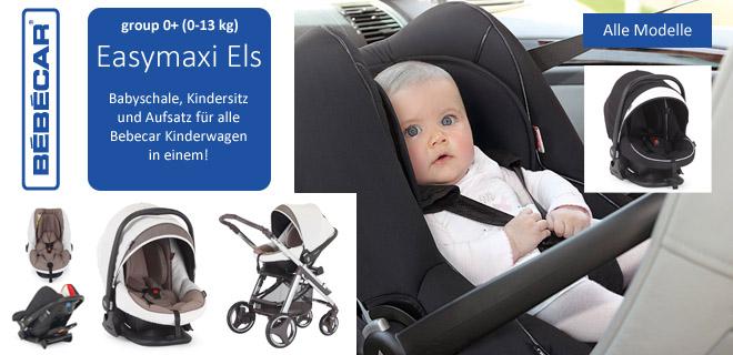 Babyschale Easymaxi Els Group 0+ Kindersitz und Aufsatz